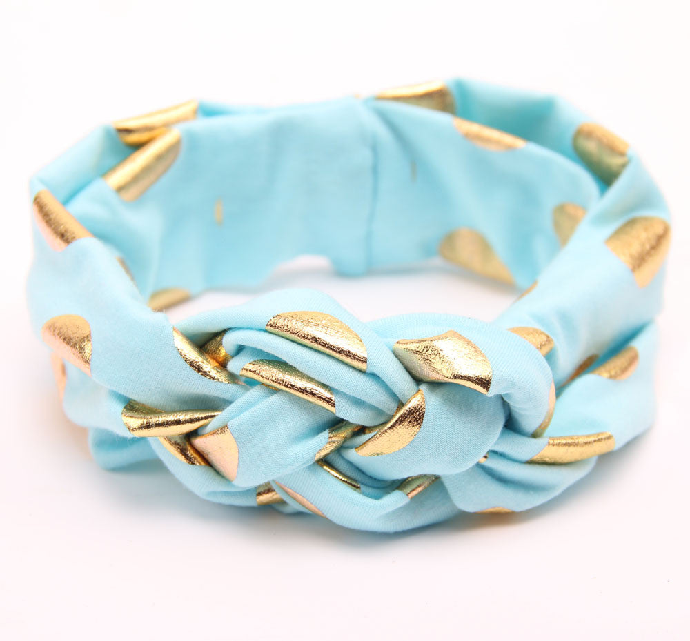 Kaelyn Blue & Gold Headband