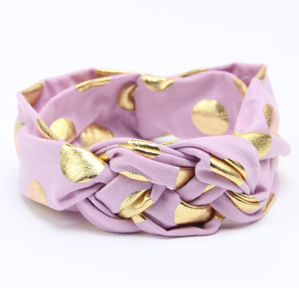Kaelyn Purple & Gold Headband