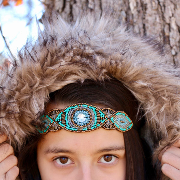 Tribal Teal Headband