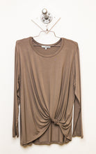 Twist Front Long Sleeve Tee