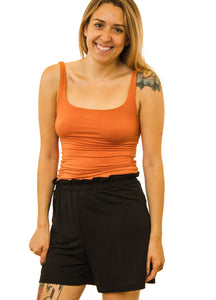 Square Neck Cropped Tank