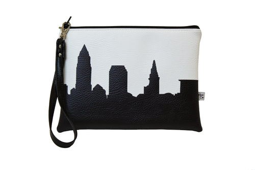 Anne Cate Cleveland Skyline Vegan Leather Wristlet