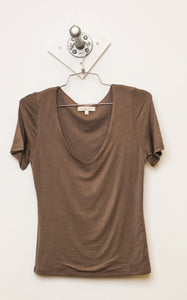 Double Layered V Neck Tee