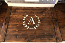 Load image into Gallery viewer, Rustic Farmhouse Wooden Kitchen Stove Top Cover Tray Noodle board ,monogram