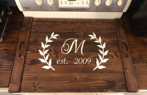 Rustic Farmhouse Wooden Kitchen Stove Top Cover