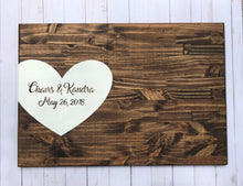 Load image into Gallery viewer, Wedding guest signature board - wedding registry - wedding guest book alternative