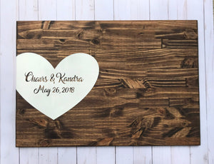 Wedding guest signature board - wedding registry - wedding guest book alternative