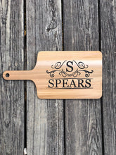 Load image into Gallery viewer, Custom Cheese Board - Breead Board Personalized - Wooden Serving Board