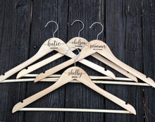 Load image into Gallery viewer, Bridal Gown Hanger - Engraved Wedding Hanger - Bridesmaid gift