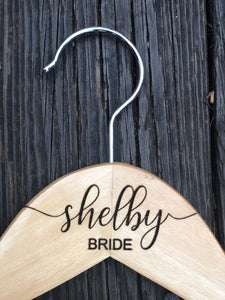 Bridal Gown Hanger - Engraved Wedding Hanger - Bridesmaid gift