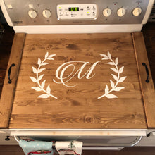 Load image into Gallery viewer, Rustic Farmhouse Wooden Kitchen Stove Top Cover