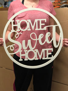 Home Sweet Home Wooden Door Hanger