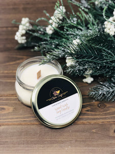 Christmas Wreath Wood Wick Soy Candle