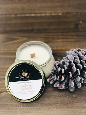 Gingerbread Valley Wood Wick Soy Candle
