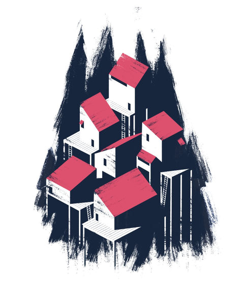 Tree House 2 Art Print Howard Kingston