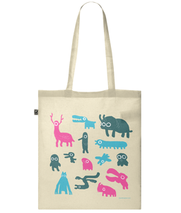 EP70 Classic Shopper Tote Bag Creatures Menagerie