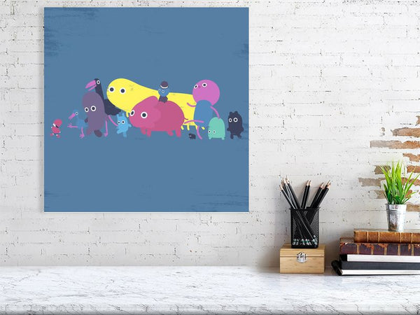 Creatures Parade Art Print Large Howard Kingston