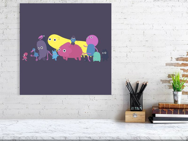 Creatures Parade Art Print Dark Large Howard Kingston