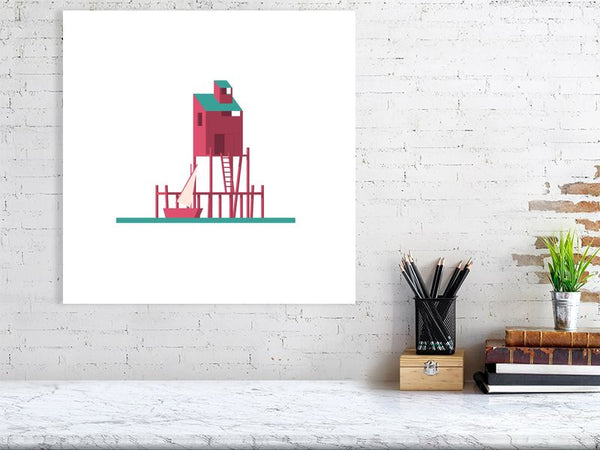 Stilts Town 2 Art Print Large Howard Kingston