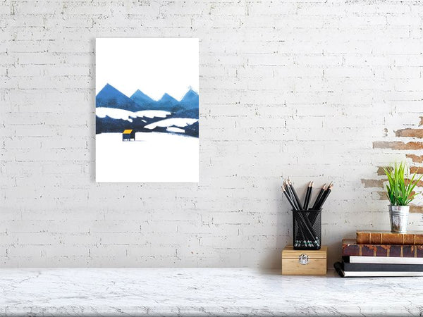 Stilts House - Mountains Art Print Large Howard Kingston