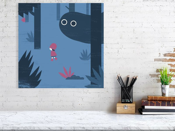 Forest Boo Art Print Large