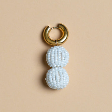 Soof-Juliët - White Beads Earring