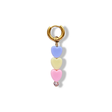 Soof-Juliët - Heart Small Lila/Yellow/Pink