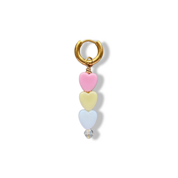 Soof-Juliët - Heart Small Pink/Yellow/White