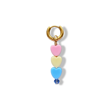 Soof-Juliët - Heart Small Pink/Yellow/Blue