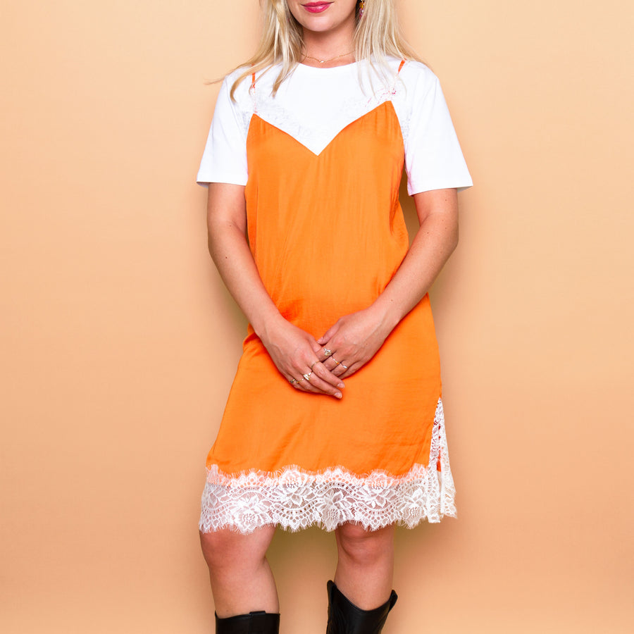 Le Cafe Noir Studio - Orange Dress