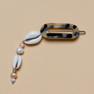 Wald Berlin - Hair Clip With Peals and Shell