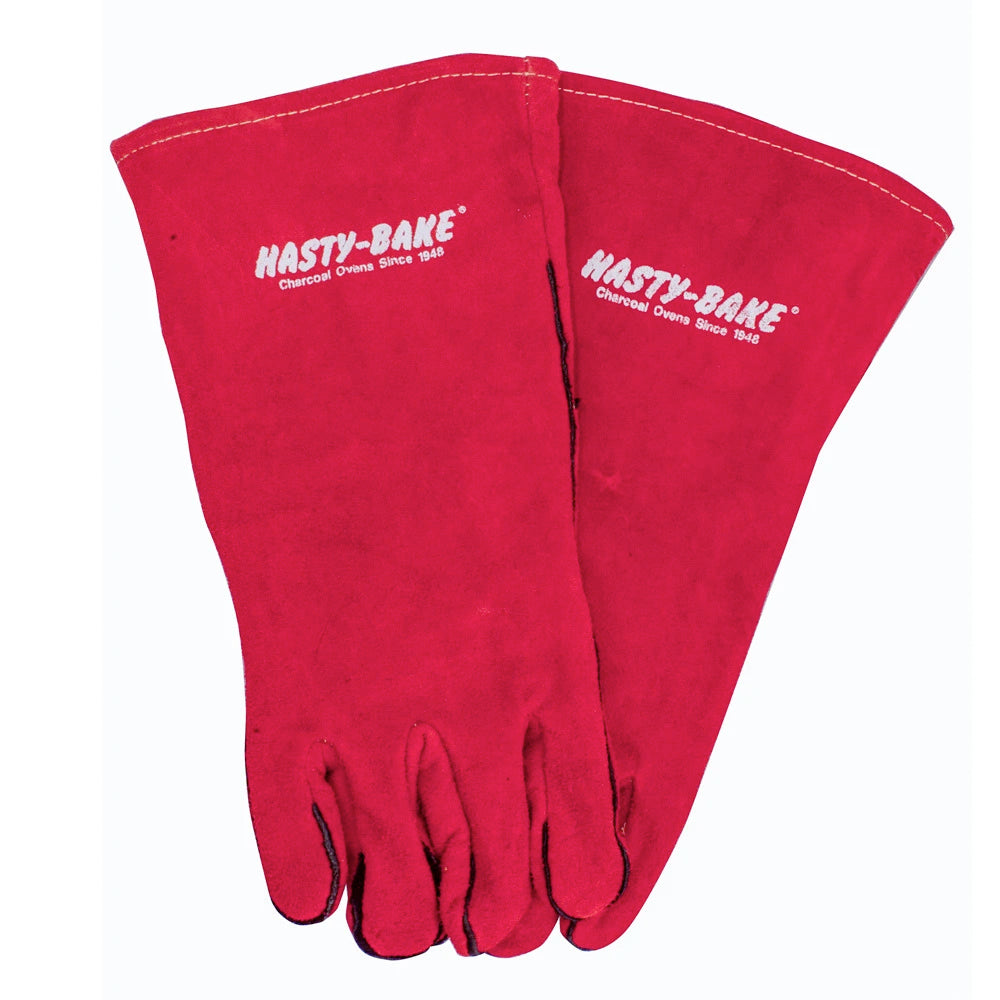 Red Leather HB Welding Gloves