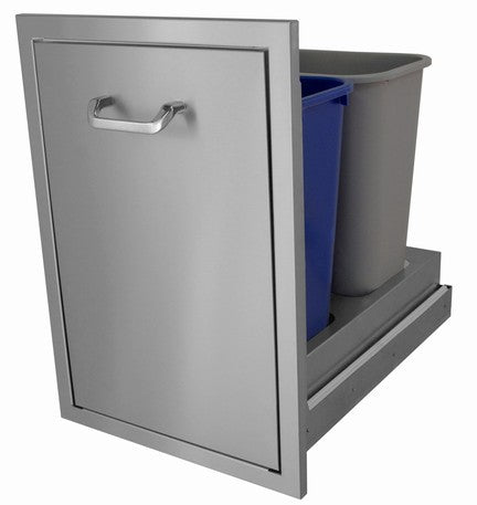 Hasty-Bake Slide Out Trash Can Stainless Steel (TCSO-18x26)