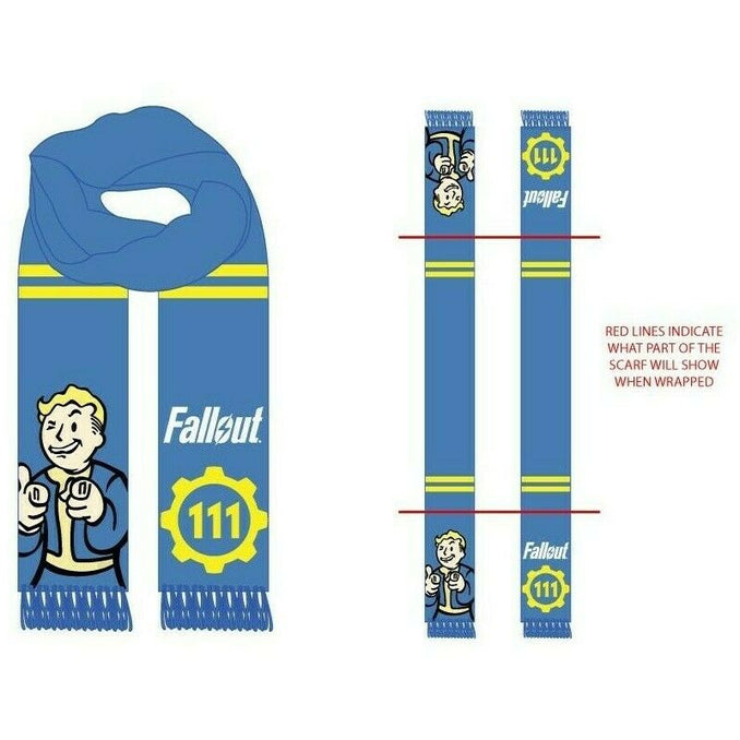 FALLOUT - Vault Boy Character Winter Scarf - FREE SHIPPING !