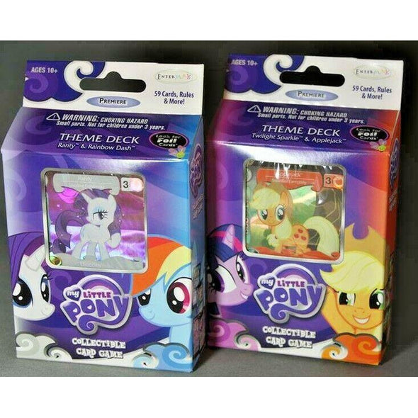 Lot of 2 x MY LITTLE PONY Theme Decks - Collectible Card Game
