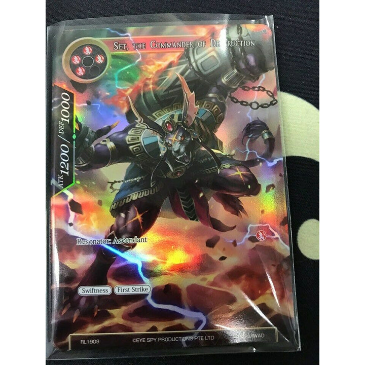 FORCE OF WILL - set, the commander of destruction RL 1909 Promo - FREE SHIPPING