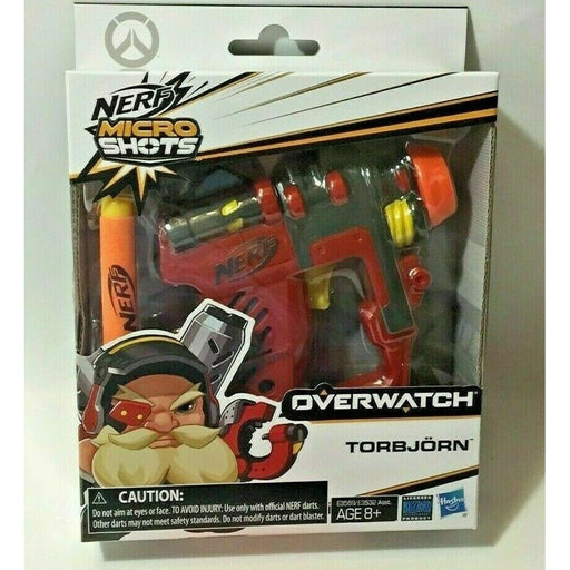 NERF OVERWATCH MICRO SHOTS TORBJORN 03 Single Shot Blaster w/ 2 Darts - NEW