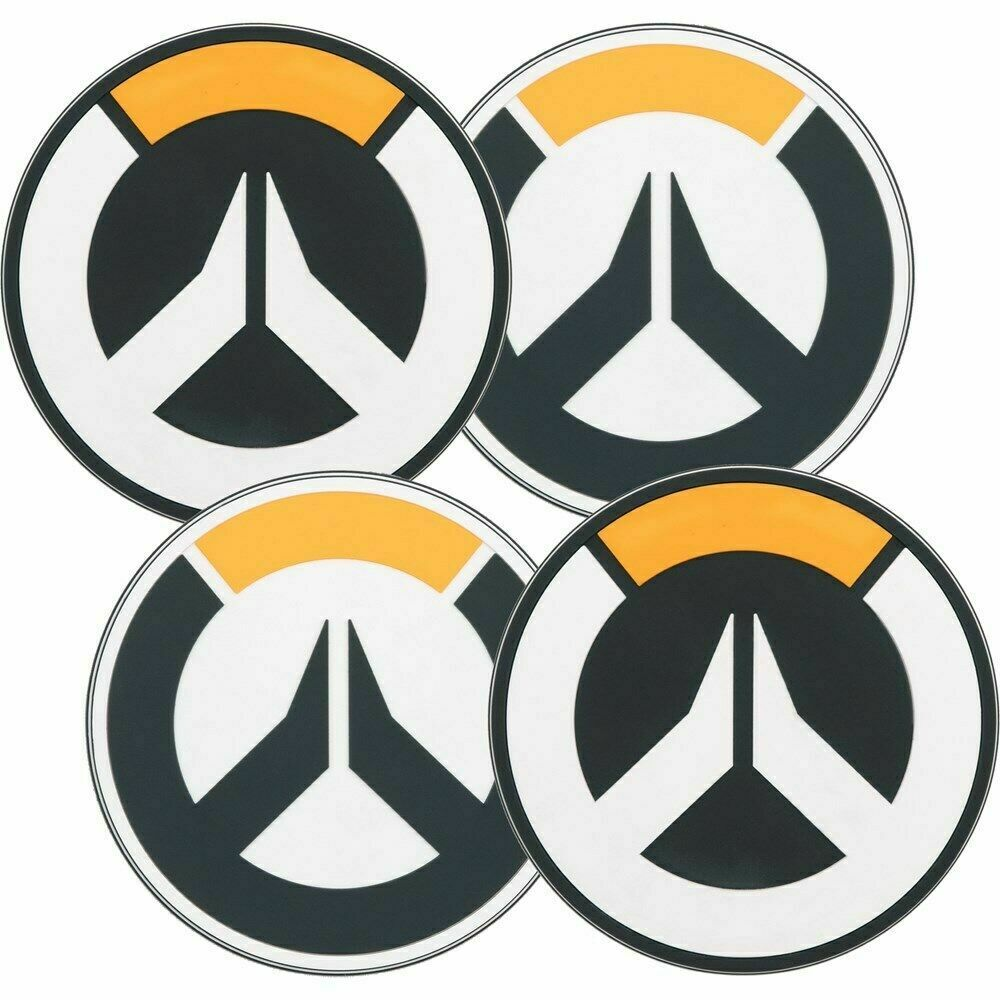 Authentic OVERWATCH Logo Coaster 4 Pack NEW