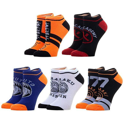 Naruto - 5 x Pairs of Men Ankle Socks - FREE SHIPPING