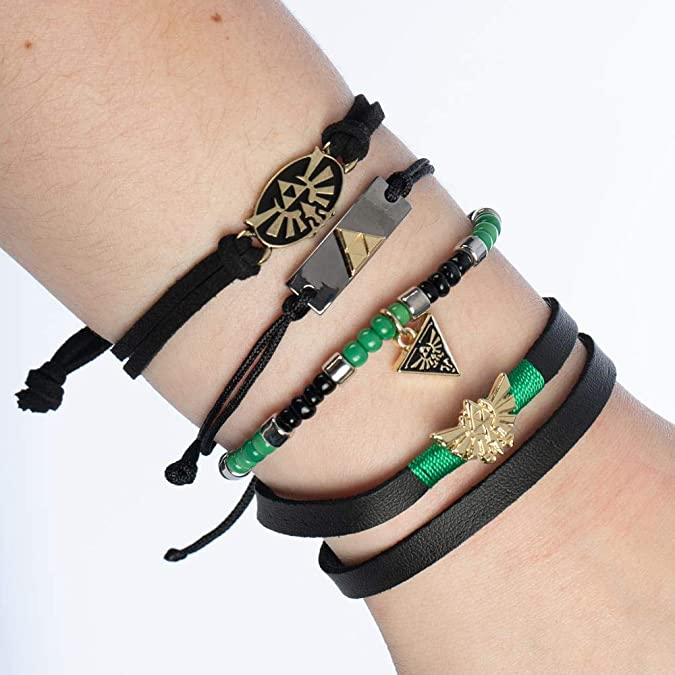 Legend of Zelda Bracelet Set, 4-Pack
