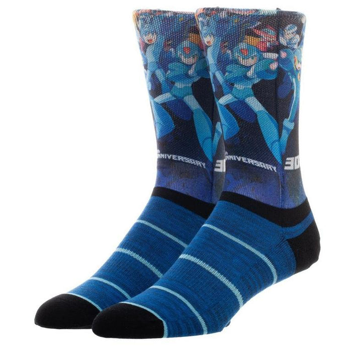 Mega Man 30th Anniversary Socks - FREE SHIPPING