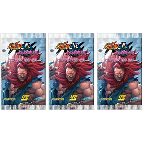 "Jasco UFS ""Street Fighter vs Darkstalkers"" - 3 x Booster Packs - FREE SHIPPING!"