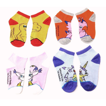 Digimon - Youth Ankle Socks (4 PAIRS) - FREE SHIPPING