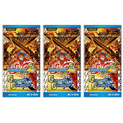 Future Card Buddyfight Ace - Golden Garga - 3 x Booster Packs - FREE SHIPPING!