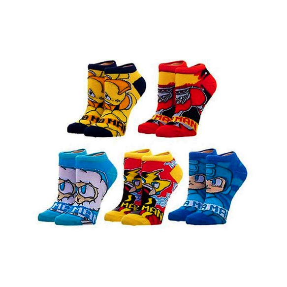 Mega Man - 5 x Pairs of Ankle Socks - FREE SHIPPING