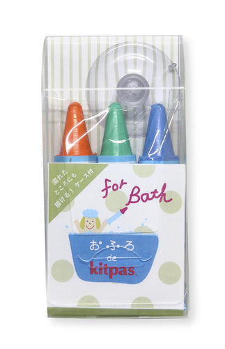 Kitpas Bath Crayons - 3 Colour - Orange, Green, Blue