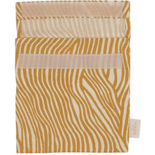 Load image into Gallery viewer, Reusable Sandwich Bag, Mustard Wave Stripe