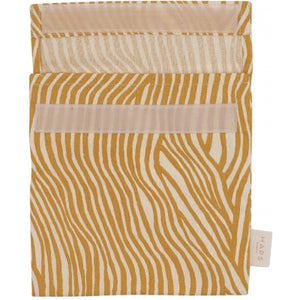 Reusable Sandwich Bag, Mustard Wave Stripe