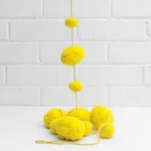 Load image into Gallery viewer, Pom Pom Garland - Bright Yellow