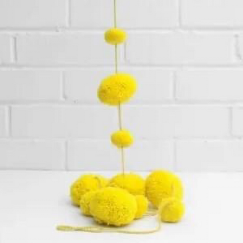 Pom Pom Garland - Bright Yellow